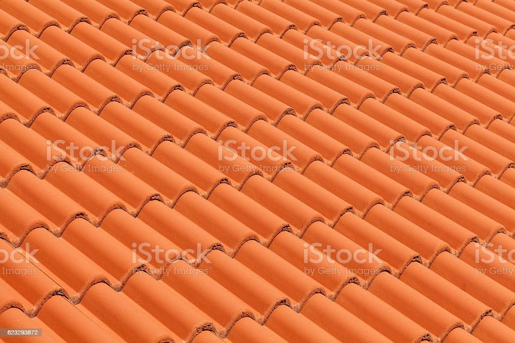 New roof tiles close up detail stock photo