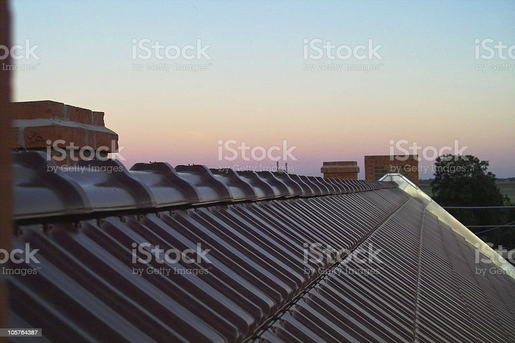 New roofing tiles stock photo