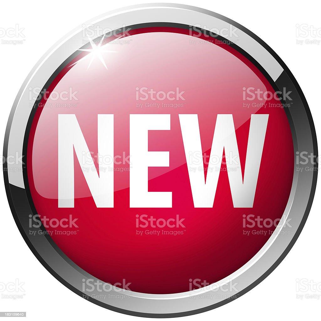 new round metal shiny button stock photo