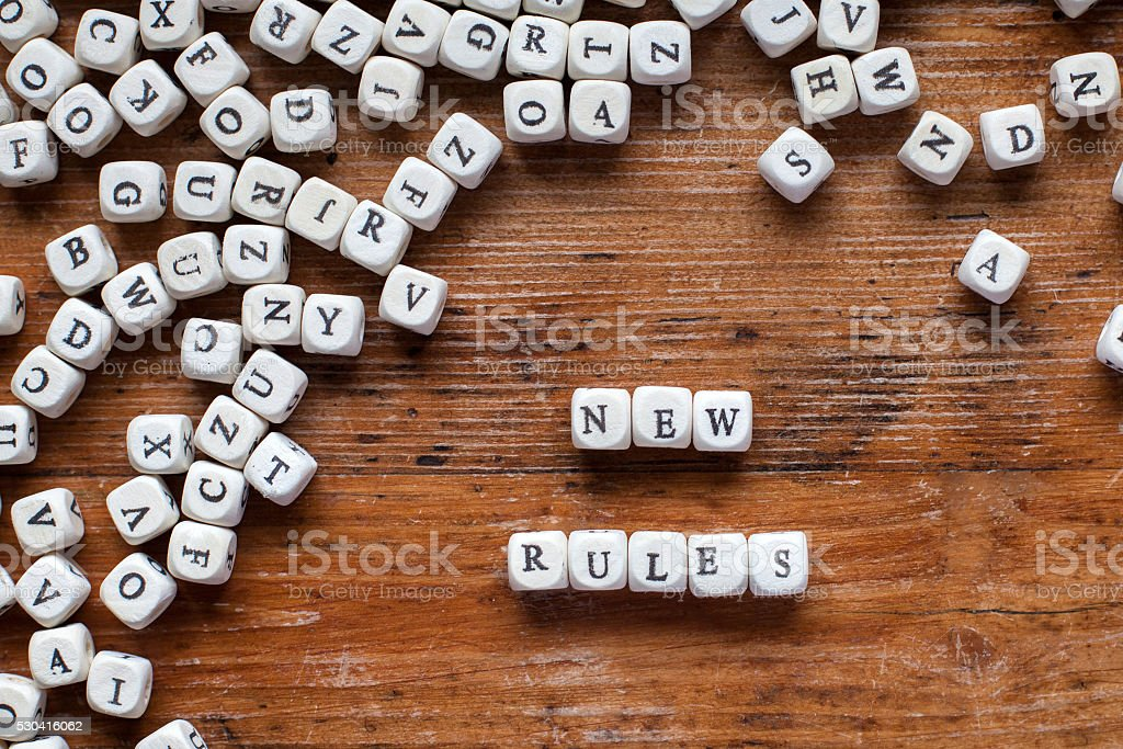 new rules stock photo