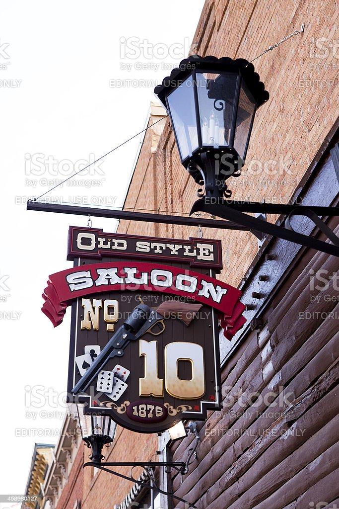 New Saloon No.10 Sign - Deadwood, South Dakota royalty-free stock photo