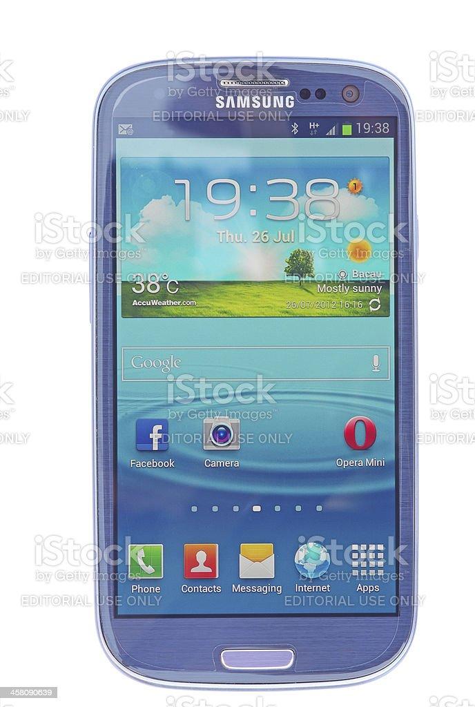 New Samsung SIII stock photo