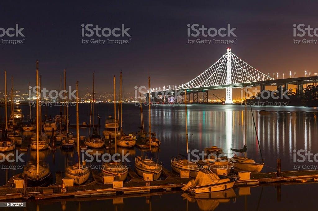 New San Francisco Bay Bridge stock photo