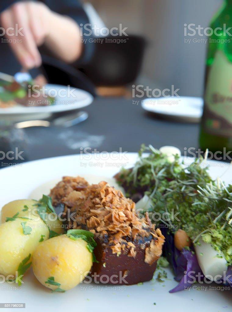 New Scandinavian Cuisine stock photo
