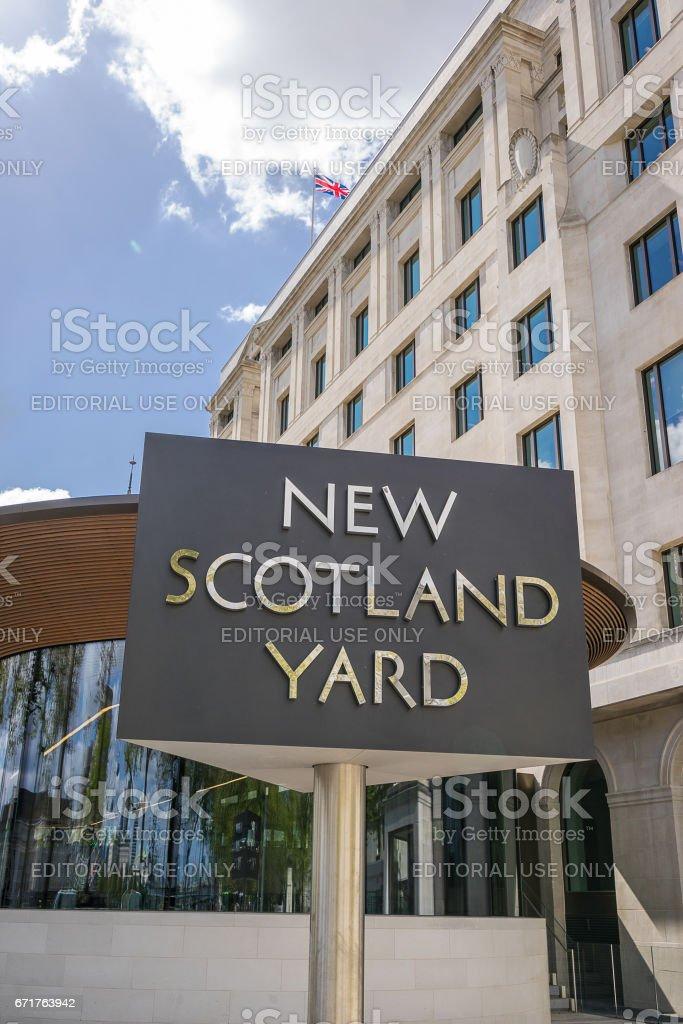 New Scotland Yard stock photo