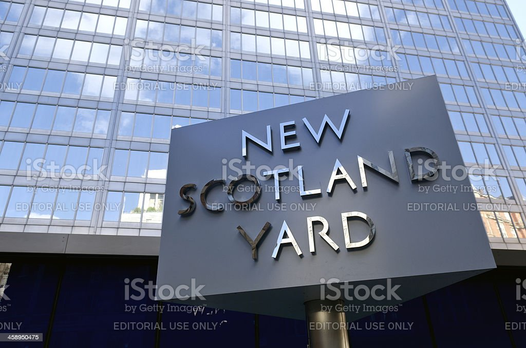 New Scotland Yard sign, Greater London stock photo