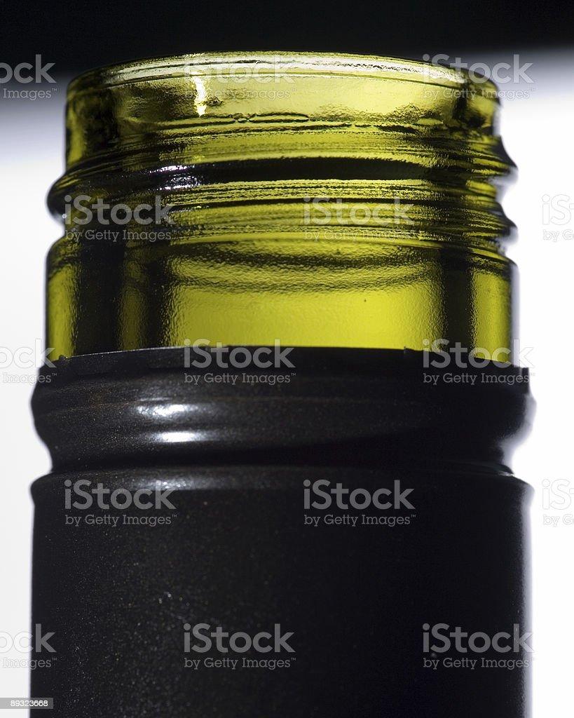 new screw top wine bottle neck macro stock photo