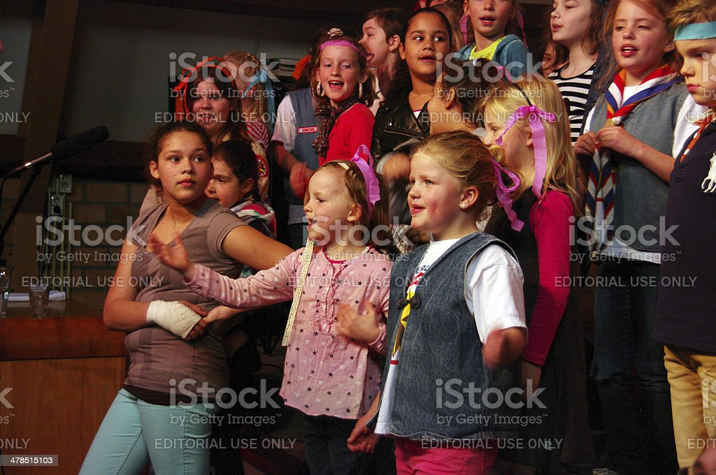 New season in Church with the children stock photo