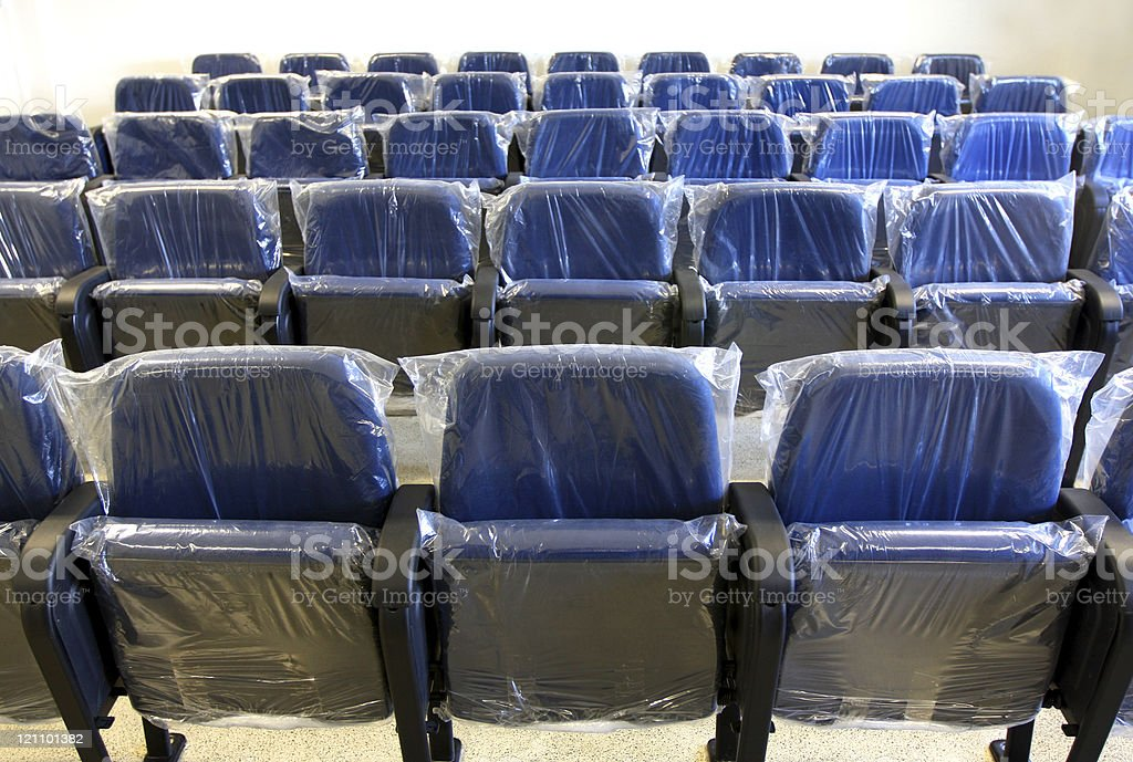 New seats covered with plastic