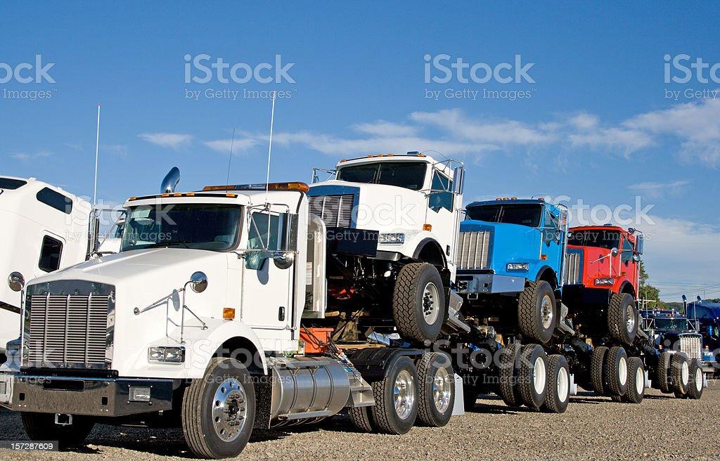 New Semi Trucks royalty-free stock photo