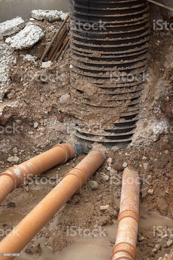 New Sewerage Installation stock photo