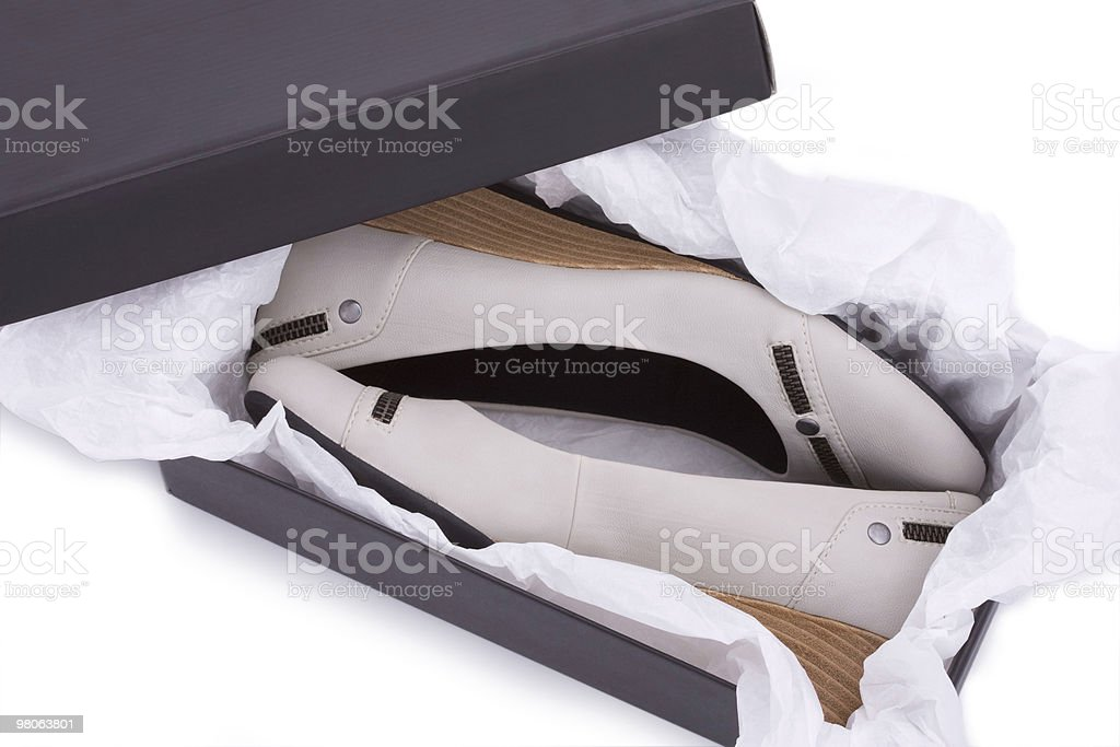 New shoes in box stock photo