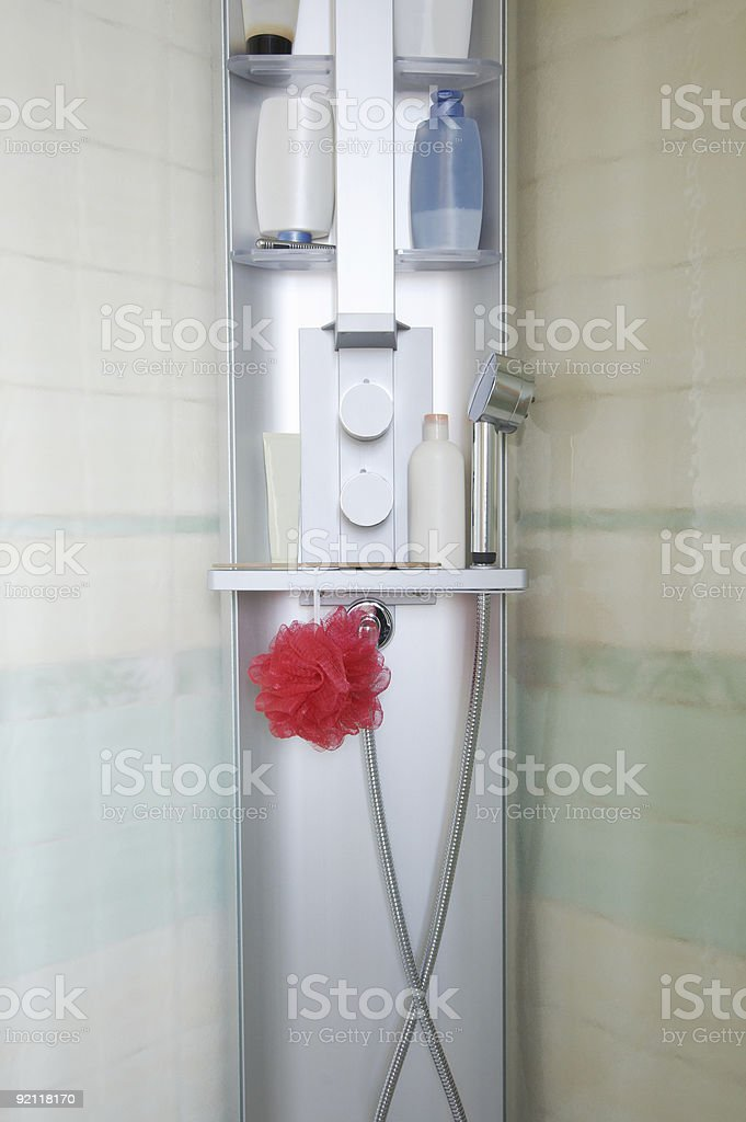 new shower cubicle royalty-free stock photo