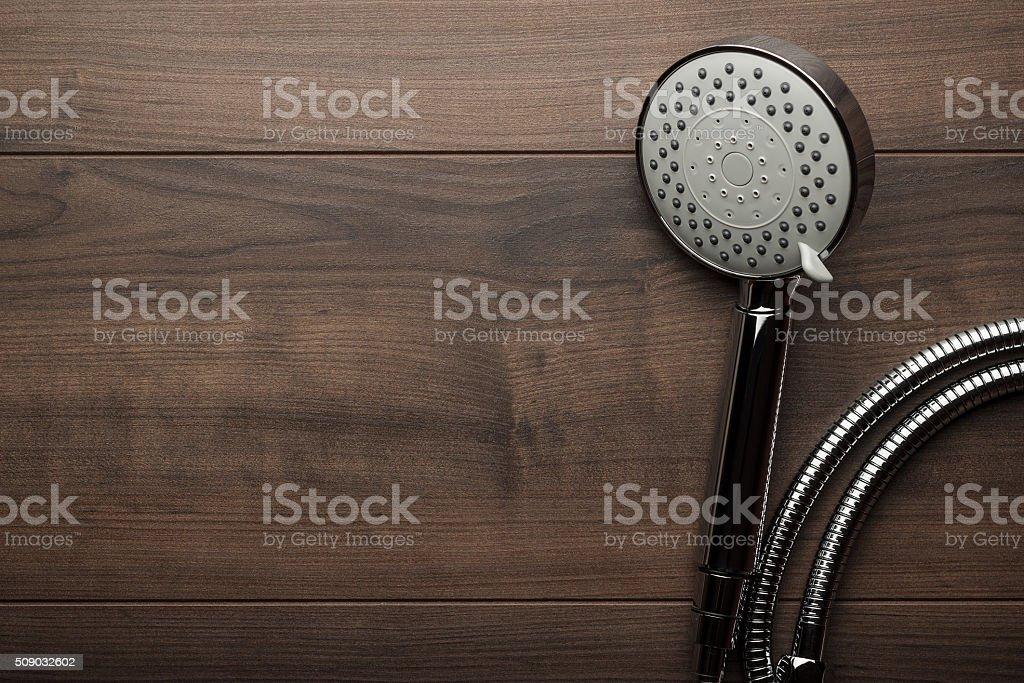 new shower head stock photo
