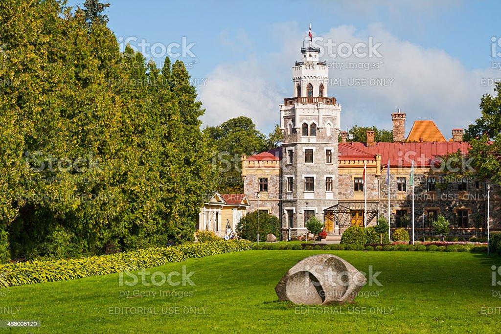 New Sigulda castle stock photo