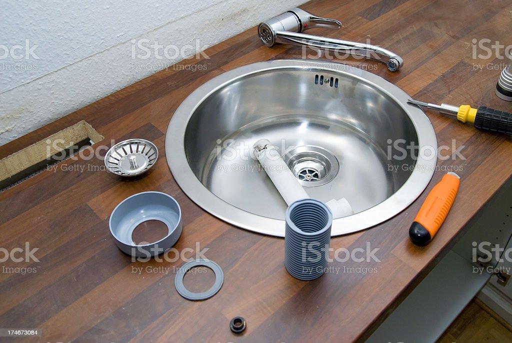 new sink constrcution royalty-free stock photo