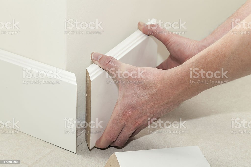 New skirting board royalty-free stock photo