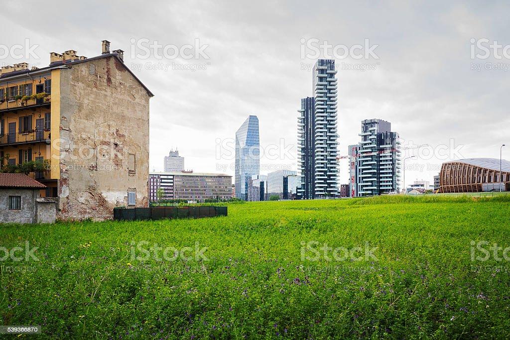 New skyline in Milan stock photo