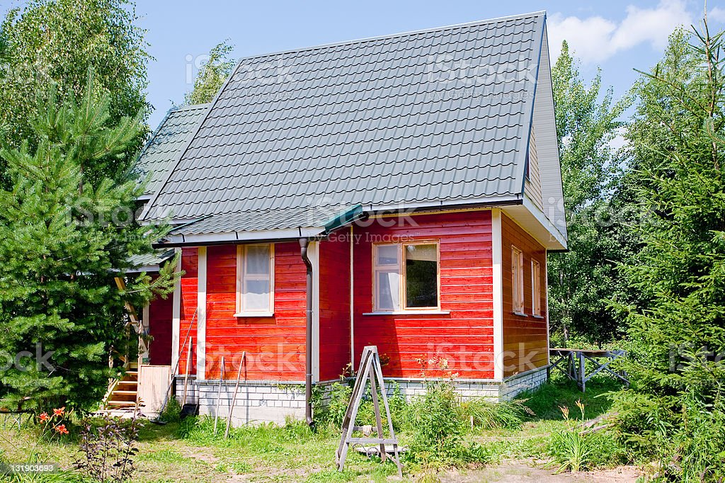 new small country house stock photo