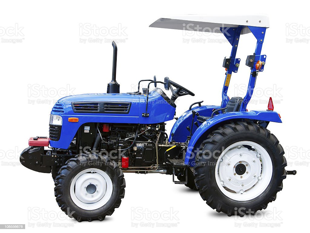 New small tractor royalty-free stock photo