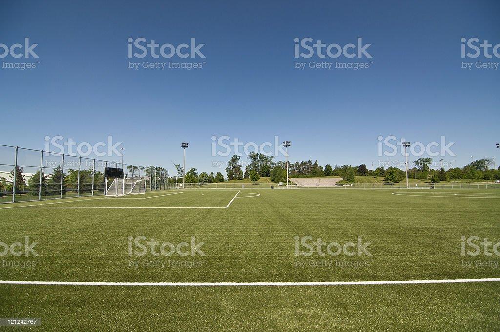 New Soccer Field royalty-free stock photo