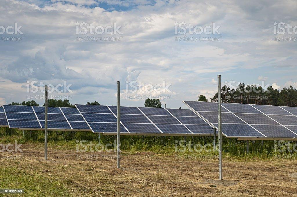 New solar farm royalty-free stock photo