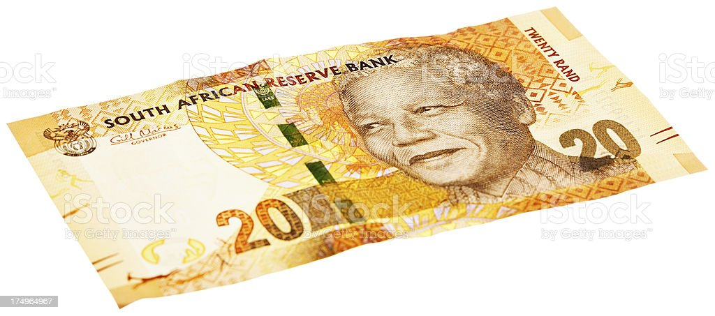 New South African Twenty Rand banknote featuring Nelson Mandela stock photo