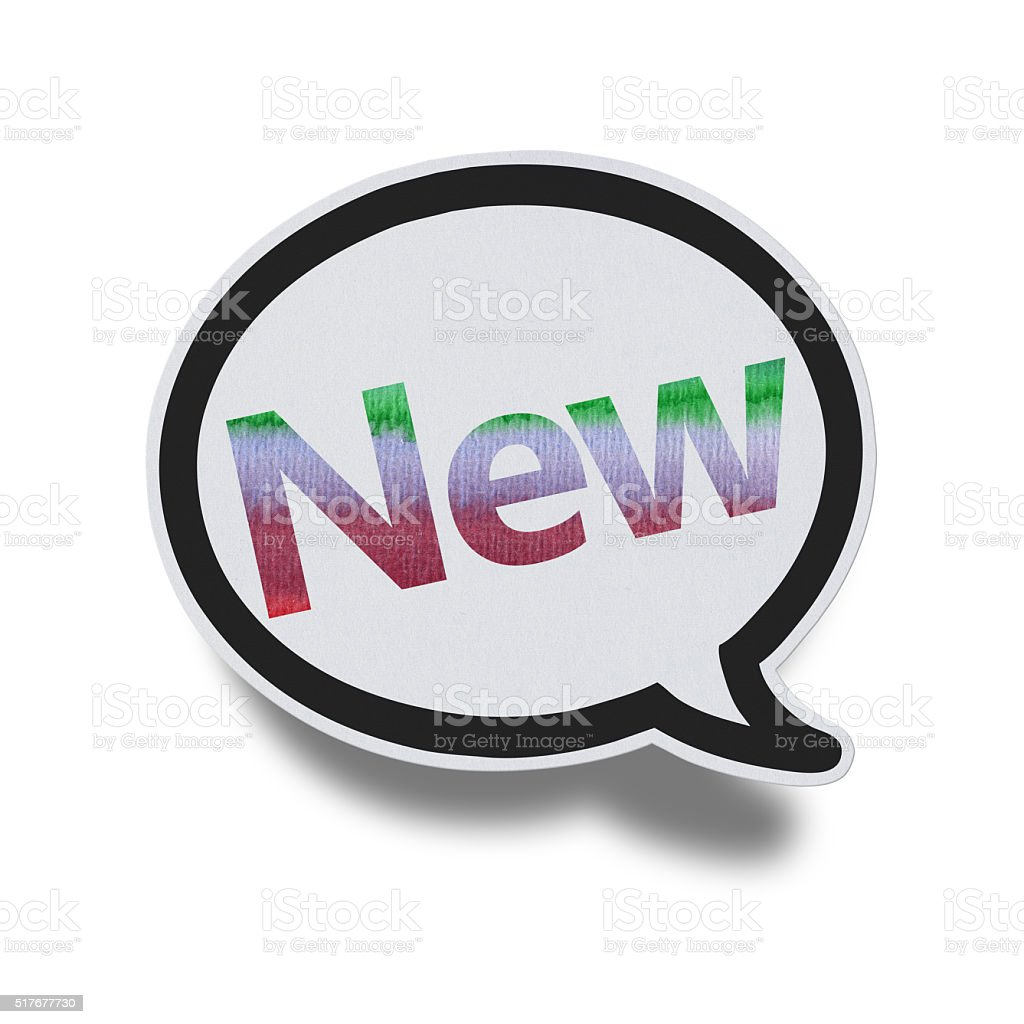 New - Speech Bubbles (Clipping Path) stock photo