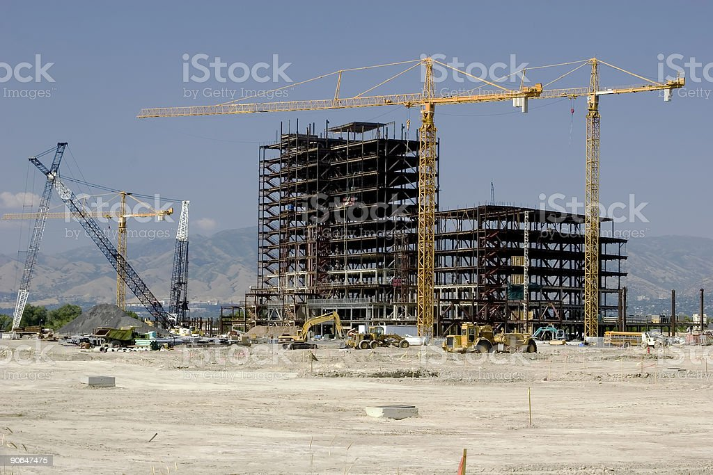 New Steel Framework of a Building under Construction. royalty-free stock photo
