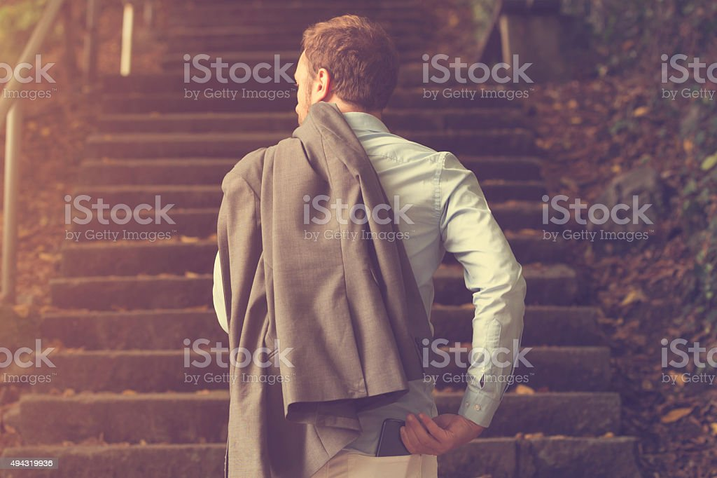 New step. stock photo