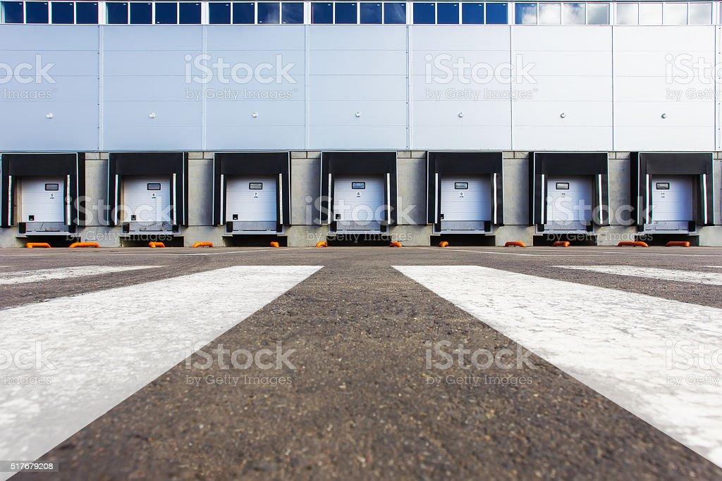 New Storage entrances stock photo
