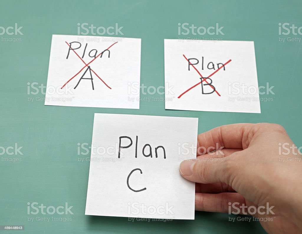 New Strategy: Plan C stock photo
