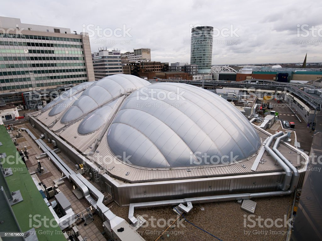 New Street Station roof, Birmingham, England. stock photo