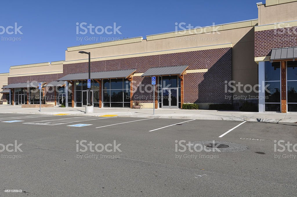 New Strip Mall Shopping Center stock photo