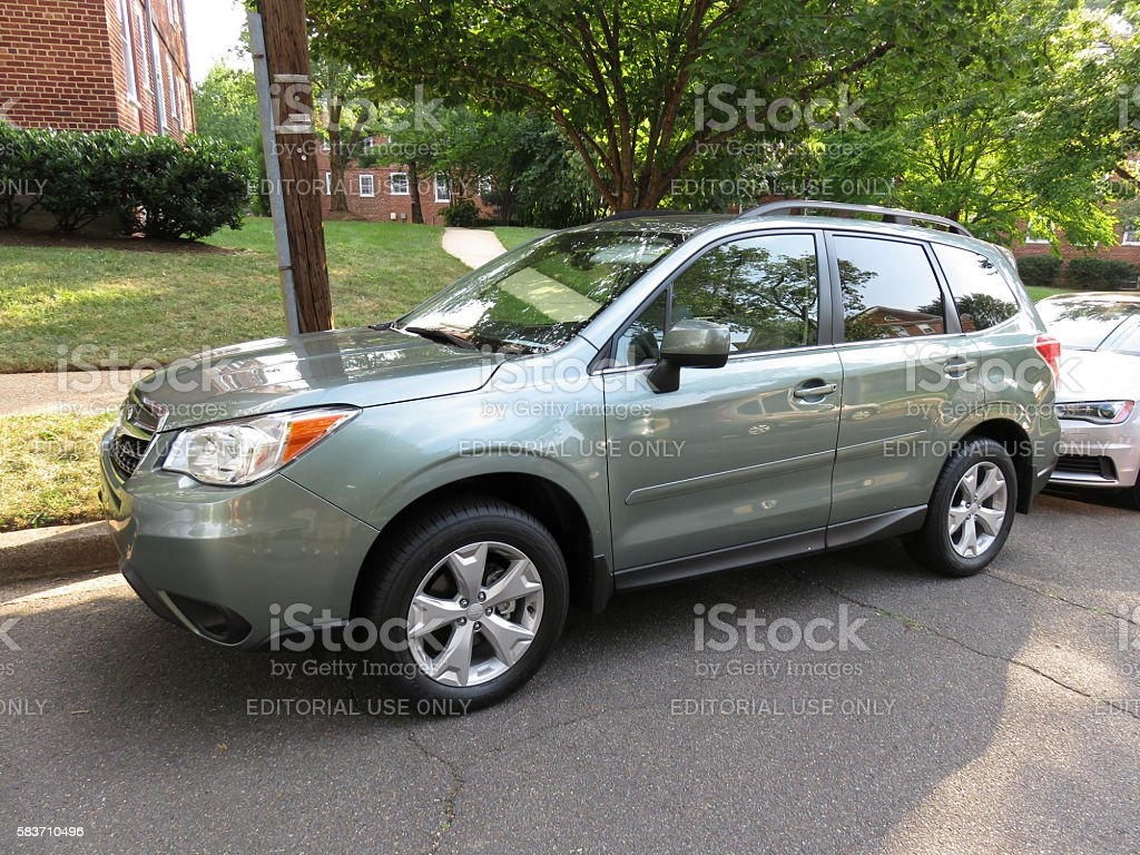 New Subaru Forester stock photo