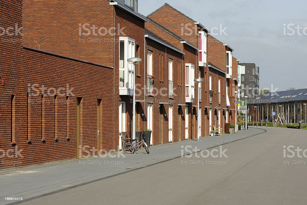 New suburban houses in the Netherlands royalty-free stock photo