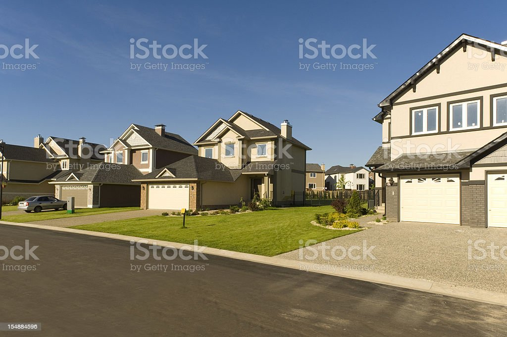 New suburban houses. stock photo