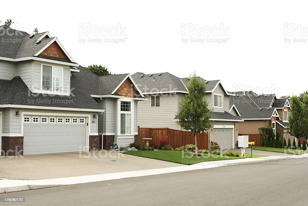 New Suburban Neighborhood stock photo