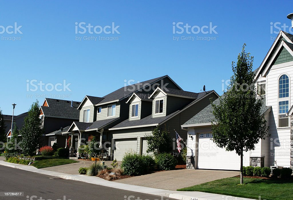 New Suburbian Neighborhood stock photo