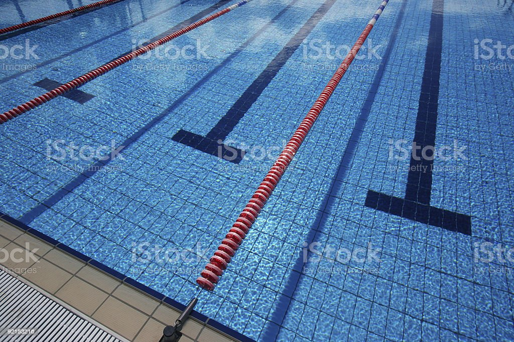 new swimming pool stock photo