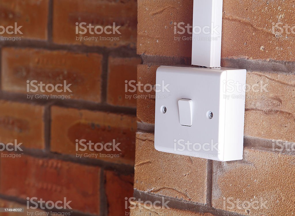 New switch in garage. royalty-free stock photo