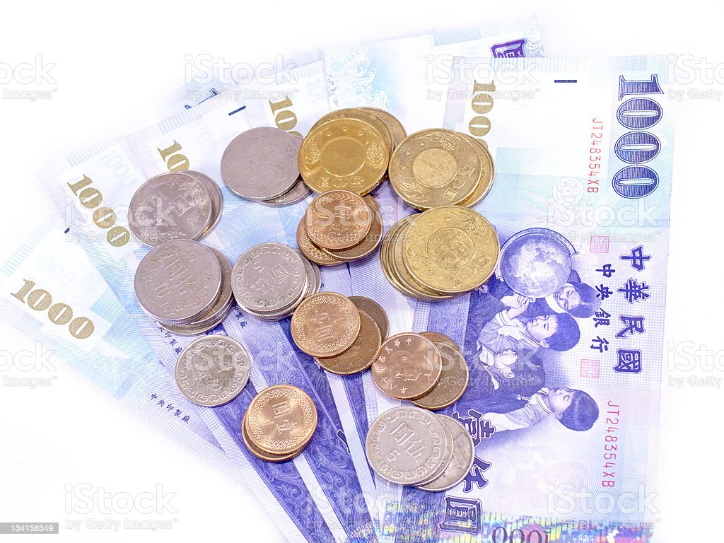 New Taiwan Dollars currency royalty-free stock photo