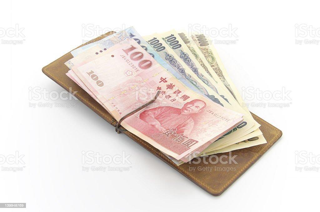 New Taiwan Dollars, Japanese Yen royalty-free stock photo