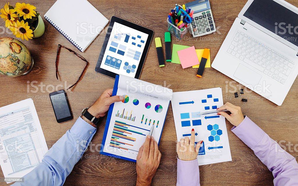 New tasks will define our market position stock photo