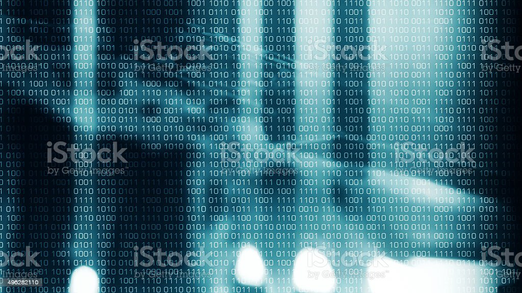 New technology cyber crime stock photo