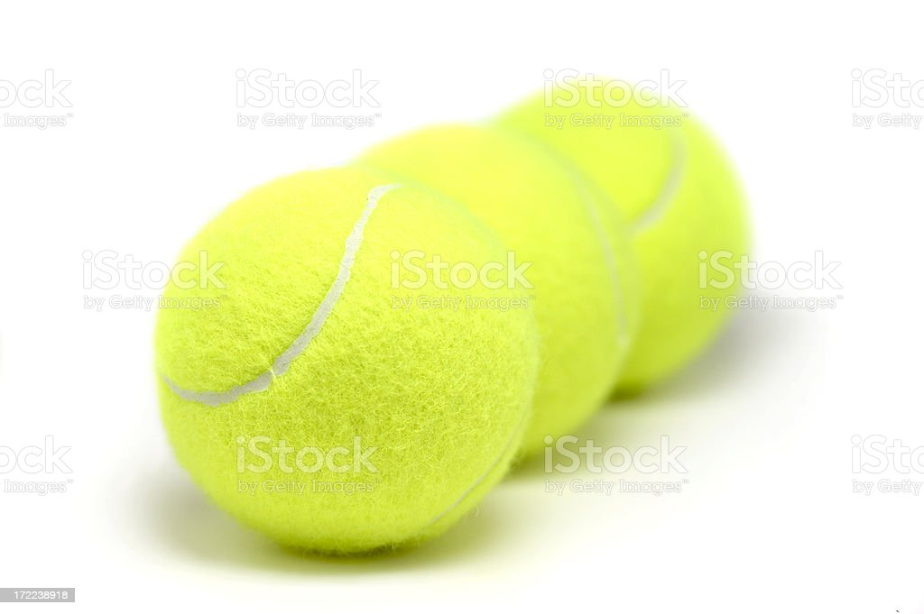 New tennis balls, isolated on white background royalty-free stock photo