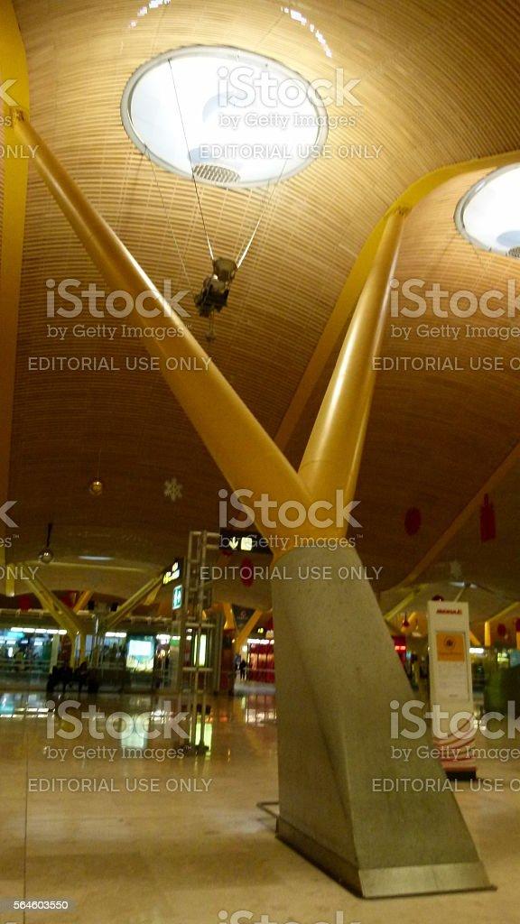 New terminal at Barajas airport stock photo