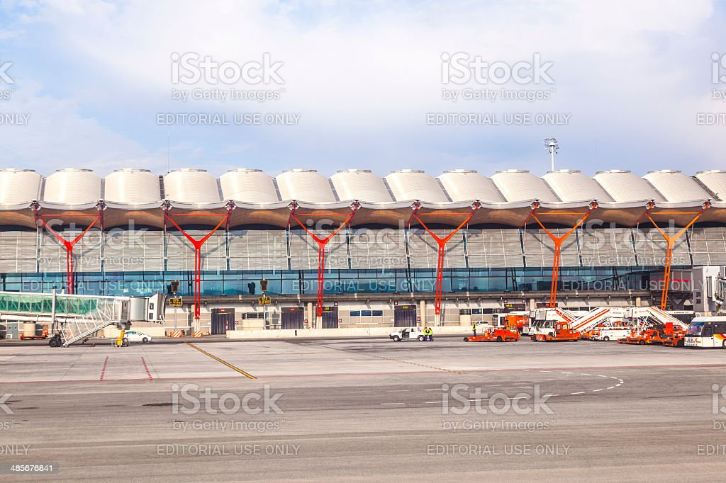 New terminal T4 at Barajay Airport stock photo