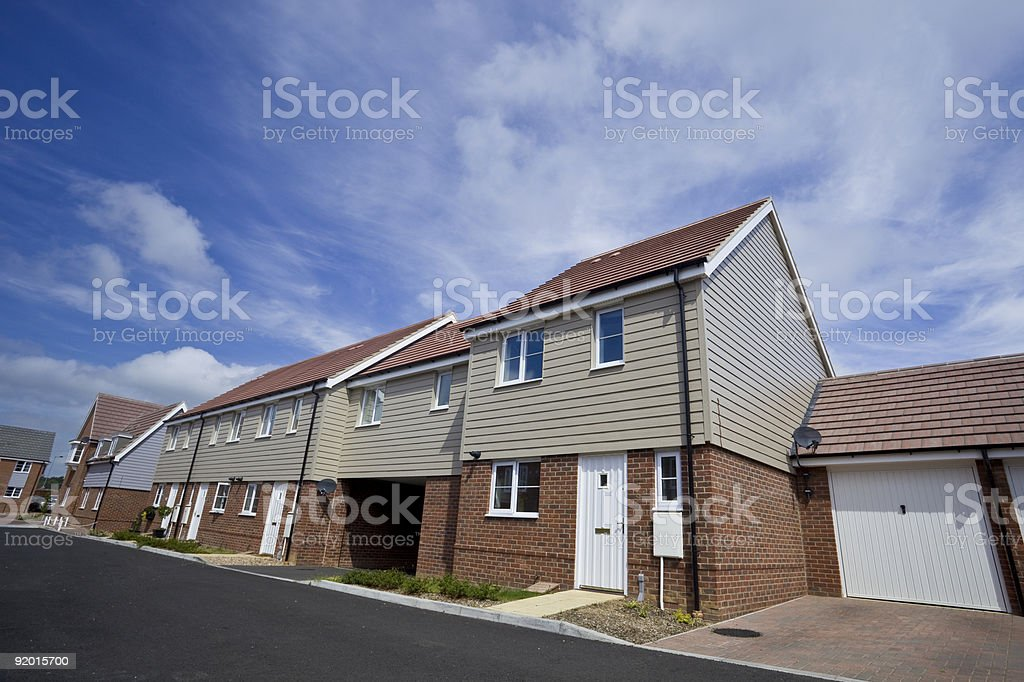 New terraced houses royalty-free stock photo