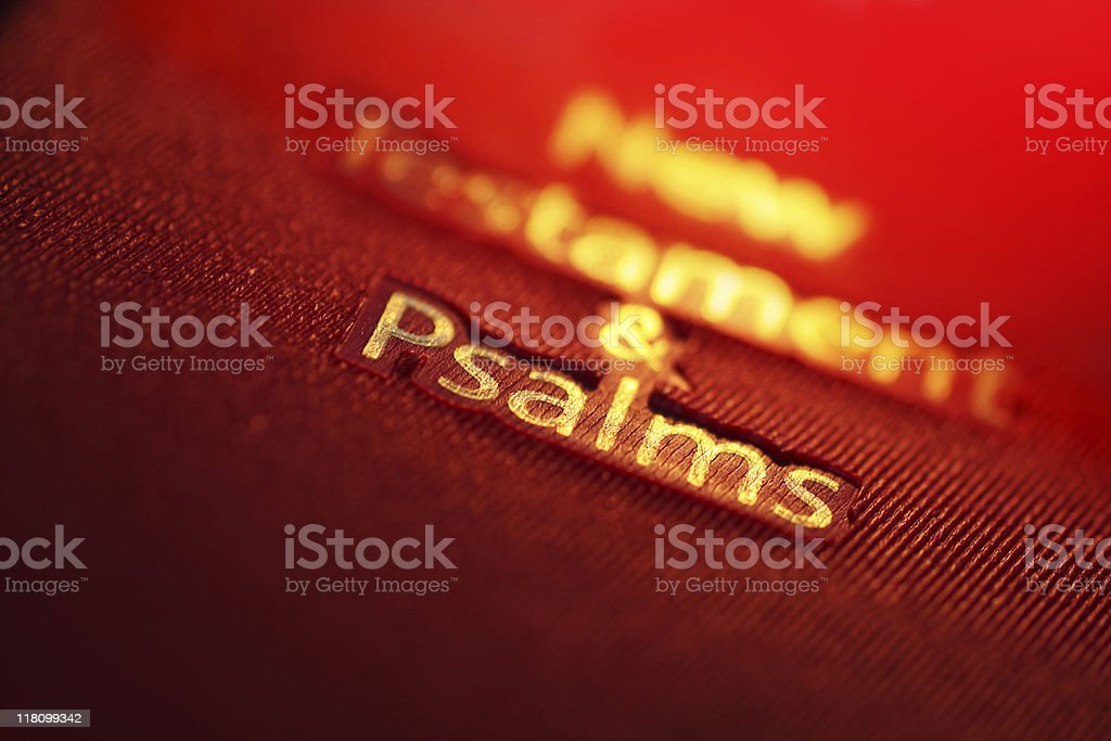 New Testament and Psalms book royalty-free stock photo